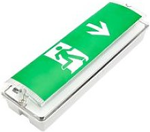 LED Green Maintained Emergency Exit Light Safety
