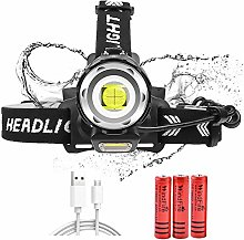 LED Head Torch 10000 Lumen Headlamp with 4 Modes,