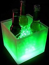 LED Ice Bucket, 3.5L Large Capacity Wine Ice