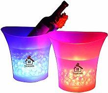 LED Ice Bucket, TECKCOOL 5L Large capacity wine