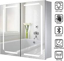 LED Illuminated Bathroom Mirror Cabinet with