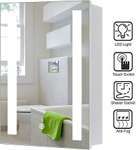 LED Illuminated Bathroom Mirror Cabinet with