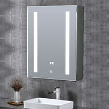 LED Illuminated Bathroom Mirror Cabinet with Touch