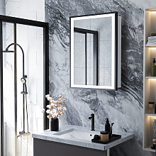 LED Illuminated Bathroom Touch Sensor Mirror