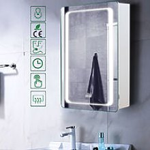 LED Illuminated Wall Mounted Bathroom Mirror