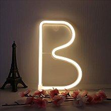 LED Letter Neon Lights Neon Alphabet Sign Night