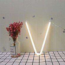LED Letter Neon Signs Light Warm White Alphabet