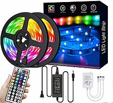 LED Light Strips,with10m(2x5M) Waterproof 5050 RGB