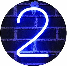 LED Light Up Numbers Neon Lights, Neon Signs Night