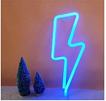 LED Lightning Shape neon Art Deco Lights for