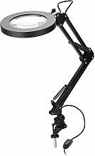 LED Magnifier Lamp,5X Magnifying Glass Desk Lamp