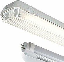 LED ME 4FT Double IP65 Non Corrosive Weatherproof