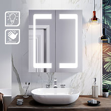 LED Mirror Cabinet 600 x 700mm with Lights Sensor