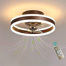 LED Mute Fan Ceiling Light Modern 6 Speed