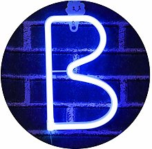LED Neon Letter Light, USB Batteries Operated
