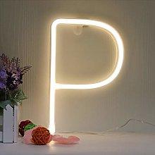 LED Neon Letter Sign Lights Warm White Alphabet
