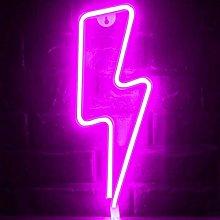 LED Neon Light, Lightning Bolt Neon Sign Wall
