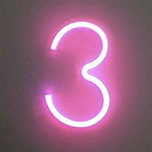 LED Neon Number Lights, LED Neon Night Light Wall
