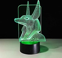 Led Night Light Ancient Egypt Anubis Lamp 3D Lamp