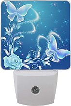 LED Night Light Plug in Walls, Shimmer Butterfly