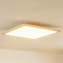 LED Panel 'Enja' dimmable in White made of