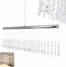 LED Pendant Light York with Glass Drop - Modern