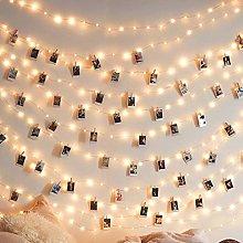 LED Photo Clip String Lights - 17 Ft/5M 50 Photo