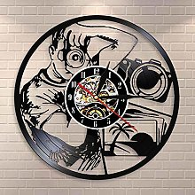 LED-Photographer's wall clock, decoration on the