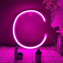 LED Pink Neon Letter Sign Words Neon Lights
