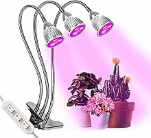 LED Plant Grow Lights With Clamp 3 Heads 360