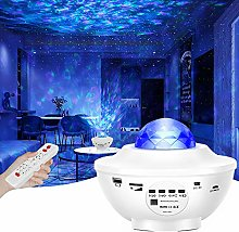 LED Projector Night Lights - 2 in 1 Ocean Wave