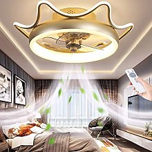 LED Quiet Ceiling Fan with Lighting Dimmable with