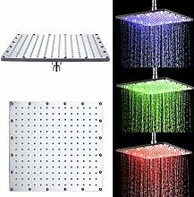 LED Rainfall Shower Head Temperature Sensor 3