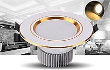 LED Recessed Retrofit Downlight 3000K Golden Edge