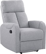 LED Recliner Chair with USB Port Grey SOMERO