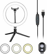 "LED Ring Light with Tripod Stand,10"" Dimmable"