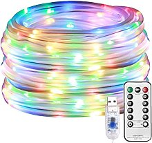 LED Rope Lights Solar Fairy String Lamp Outdoor