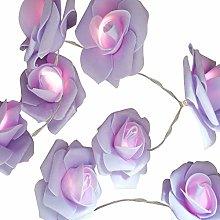 Led Rose Flower String Lights - 1.5m Rose Flower