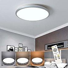 LED Round Ceiling Light, Silver, (35W) EU