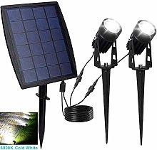 LED Solar Spotlight Cool-White 9-10 Hours Working
