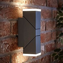 LED Square Up Down Modern Anthracite Outdoor Wall