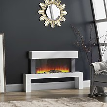 LED Standing Electric Fireplace 7 Flame Colours