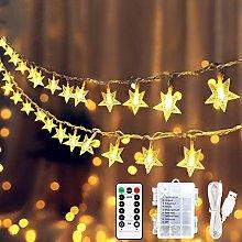 Led Star Fairy Lights, 9M 60 LED String Lights