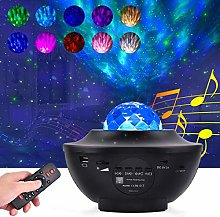 LED Star Projector Rotating Night Light,Bedside
