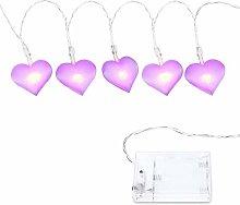 LED String Light,DINOWIN 20 LED Heart Shaped