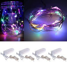 LED String Lights Battery Powered Copper Wire