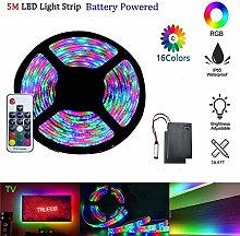 LED Strip Light Battery Powered Rainbow Effect RGB