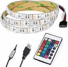LED Strip Lights 3M/118.11in 5V 5050 RGB Dimmable