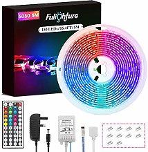 LED Strip Lights, Fulighture 5M/16.4ft RGB SMD