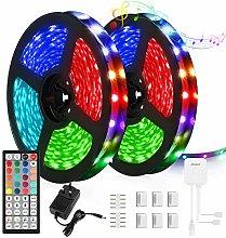 LED Strip Lights, JUOYOU 10M RGB Colour Changing